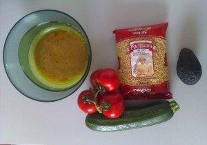 Salade composée (avec des courgettes crues) dans ACTUALITE ingredients-300x211